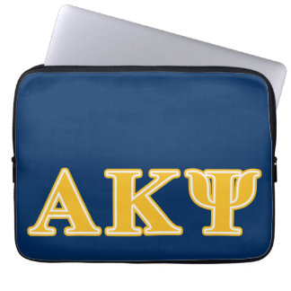 Alpha Kappa Psi Yellow Letters Laptop Computer Sleeve