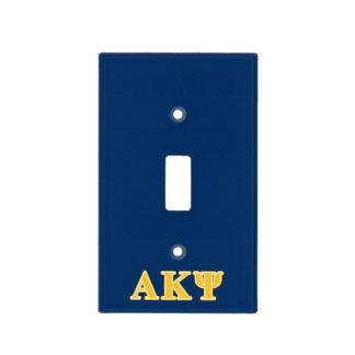 Alpha Kappa Psi Yellow Letters Light Switch Plate