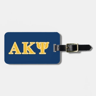 Alpha Kappa Psi Yellow Letters Luggage Tags