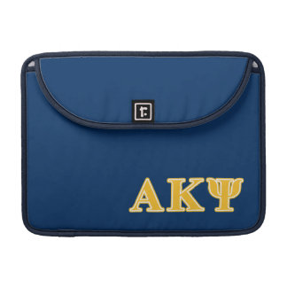 Alpha Kappa Psi Yellow Letters Sleeve For MacBook Pro