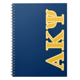 Alpha Kappa Psi Yellow Letters Note Books