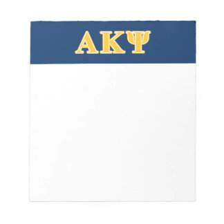 Alpha Kappa Psi Yellow Letters Notepads