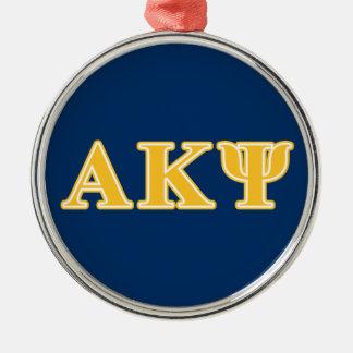 Alpha Kappa Psi Yellow Letters Ornaments