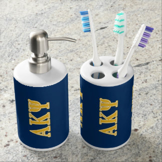 Alpha Kappa Psi Yellow Letters Toothbrush Holder