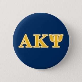 Alpha Kappa Psi Yellow Letters Pinback Button