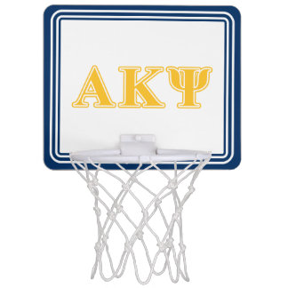 Alpha Kappa Psi Yellow Letters Mini Basketball Backboard