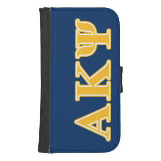 Alpha Kappa Psi Yellow Letters Galaxy S4 Wallet Case