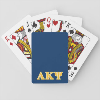 Alpha Kappa Psi Yellow Letters Poker Cards