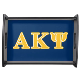 Alpha Kappa Psi Yellow Letters Serving Tray