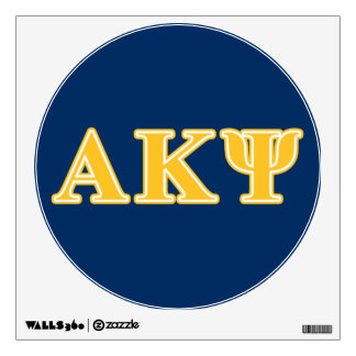 Alpha Kappa Psi Yellow Letters Wall Sticker