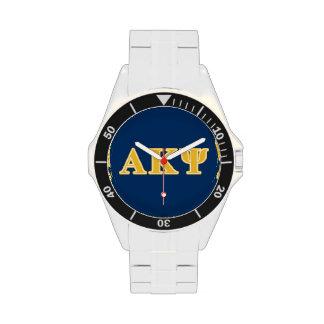 Alpha Kappa Psi Yellow Letters Wrist Watches