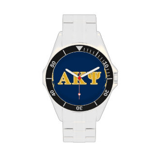Alpha Kappa Psi Yellow Letters Wrist Watches