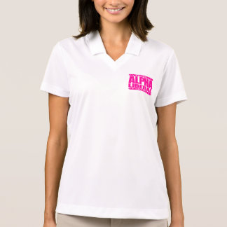 ALPHA LIBERAL - Equal Opportunity Fighter, Pink Polo Shirt