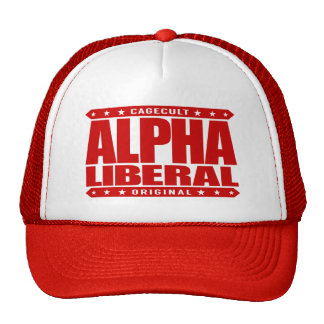 ALPHA LIBERAL - Equal Opportunity Fighter, Red Trucker Hat