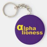 alpha lioness keychains