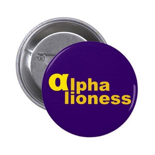 alpha lioness pin redondo 5 cm