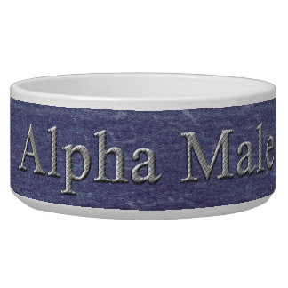 Alpha Male Denim Bowl