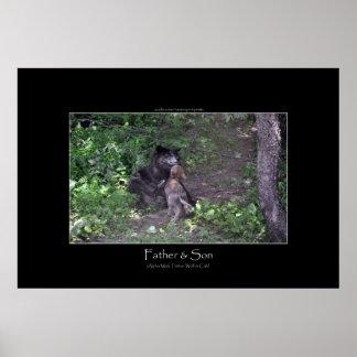 Alpha Male Grey Wolf & Pup Photo Print