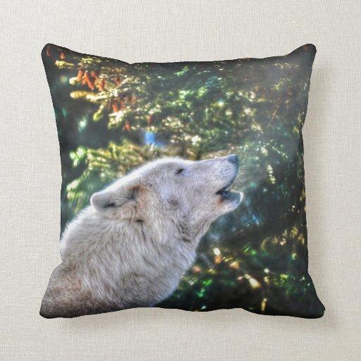 Alpha Male Grey Wolf Wildlife Photo Pillow