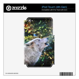 Alpha Male Grey Wolf Wildlife Photo Decals For iPod Touch 4G