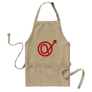 Alpha Male Sign Adult Apron