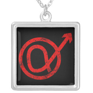 Alpha Male Sign Silver Plated Necklace