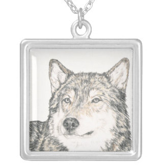 Alpha Male Wolf Silver Plated Necklace