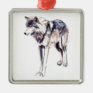 Alpha Metal Ornament