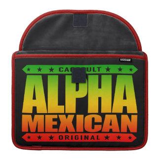 ALPHA MEXICAN - I'm Ancient Mayan Warrior, Rasta Sleeves For MacBook Pro