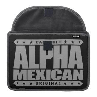 ALPHA MEXICAN - I'm Ancient Mayan Warrior, Silver MacBook Pro Sleeve