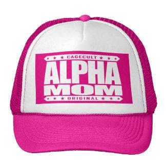 ALPHA MOM - I'm a Domestic Warrior Goddess, White Trucker Hat