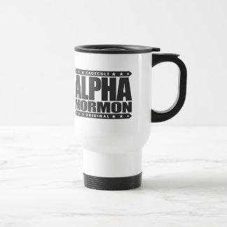 ALPHA MORMON - Church of Latter-day Saints, Black 15 Oz Stainless Steel Travel Mug