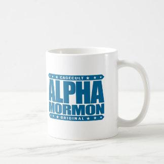 ALPHA MORMON - Church of Latter-day Saints, Blue Classic White Coffee Mug