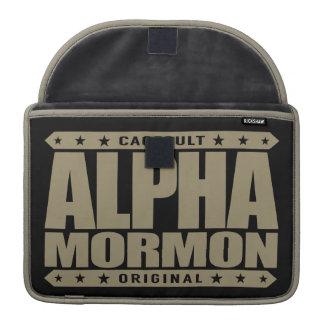 ALPHA MORMON - Church of Latter-day Saints, Gold MacBook Pro Sleeve