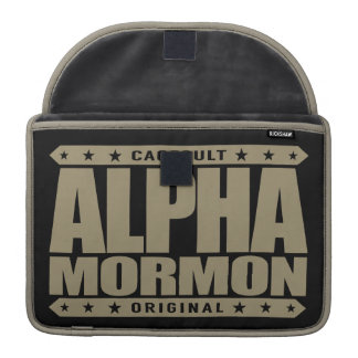 ALPHA MORMON - Church of Latter-day Saints, Gold Sleeves For MacBooks