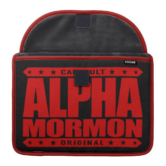 ALPHA MORMON - Church of Latter-day Saints, Red Sleeves For MacBooks