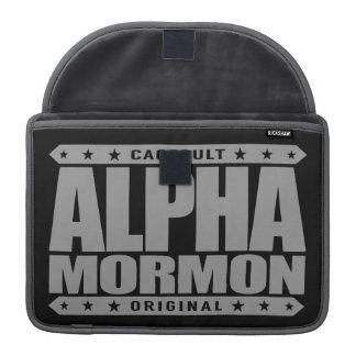 ALPHA MORMON - Church of Latter-day Saints, Silver Sleeve For MacBooks
