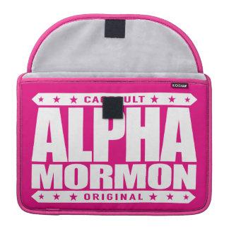 ALPHA MORMON - Church of Latter-day Saints, White Sleeve For MacBooks