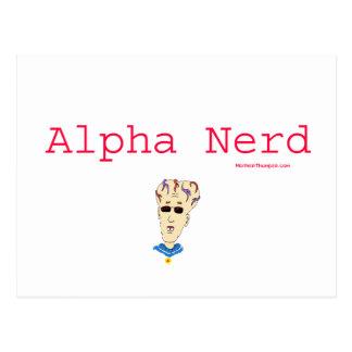 Alpha Nerd Postcard