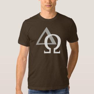 Alpha & Omega 3 White Gray TRANS png Tee Shirt