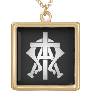 Alpha & Omega Gold Plated Necklace