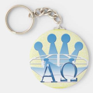 alpha omega keychain