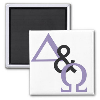 Alpha & Oméga Lilas noir Magnet