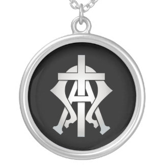 Alpha & Omega Round Pendant Necklace