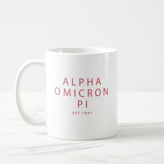 Alpha Big Coffee Script Omicron Mug Pi gY7yfb6