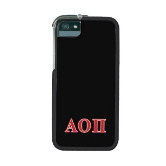 Alpha Omicron Pi Red Letters iPhone 5 Case