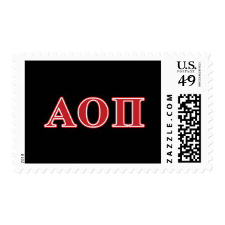 Alpha Omicron Pi Red Letters Postage Stamp