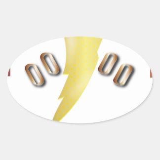 alpha oval sticker