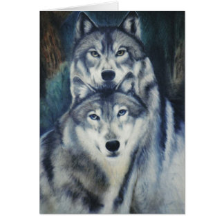 """Alpha Pair"" Greeting Card"