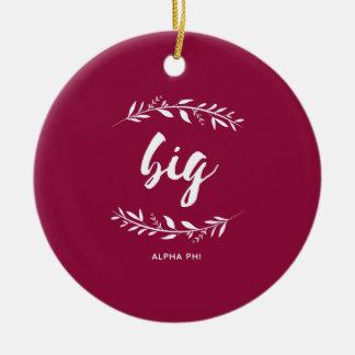 Alpha Phi | Big Wreath Ceramic Ornament